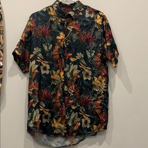 Zara relaxed fit floral shirt